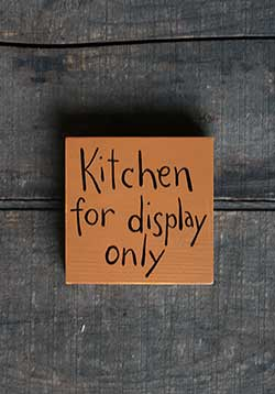 Kitchen For Display Only Sign (Custom Color)