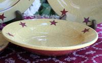 Redware Rimmed Bowl