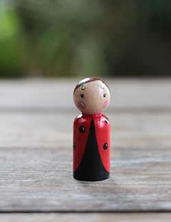 Ladybug Peg Doll (or Ornament)