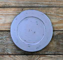Distressed 9.5 inch Candle Plate - Lavender