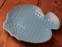 Nautical Fish Plate - Light Blue