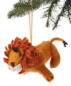 Lion Wool Ornament