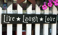 Live Laugh Love Handmade Sign - Black
