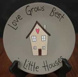 Little Houses Hand-painted Plate