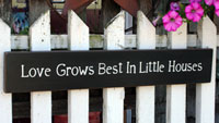 Love Grows Best Handmade Sign - Black