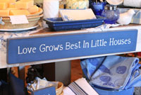 Love Grows Best Handmade Sign - Soldier Blue
