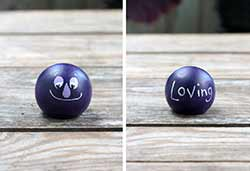 Emotion Peg Doll - Purple / Loving