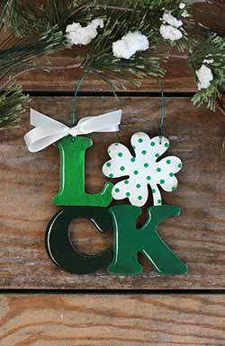 Luck Letters Ornament