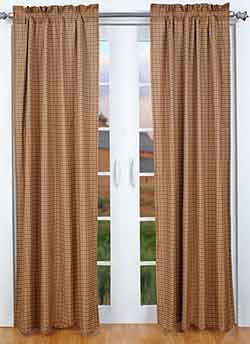 Millsboro Panels - 84 inch (Burgundy and Navy Plaid)