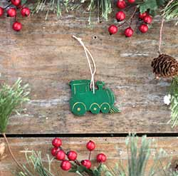 Mini Train Engine Ornament