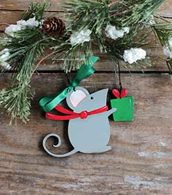 Christmas Mouse Personalized Ornament