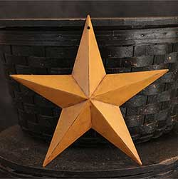 Antiqued Mustard Wall Star - 8 inch