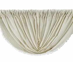 Tobacco Cloth Balloon Valance - Natural
