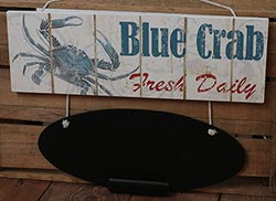 Wood Blue Crab Chalk Board