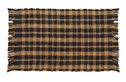 Navy Plaid Jute Placemats (Set of 2)