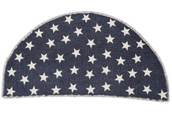 Antique Navy Star Rug - Half Circle