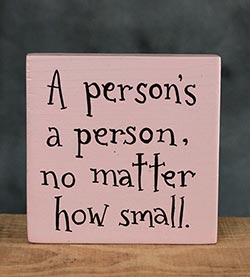 A Person's A Person Hand-lettered Sign (Custom Color)
