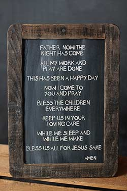 Good Night Prayer Blackboard