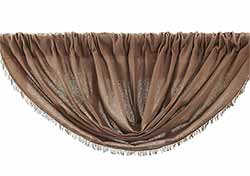 Tobacco Cloth Balloon Valance - Nutmeg