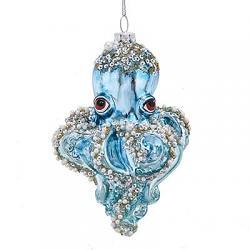 Blue Glass Octopus Ornament