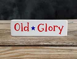 Old Glory Mini Stick Shelf Sitter with Star