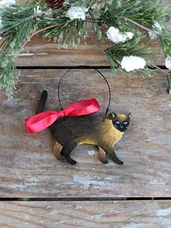 Cat Personalized Ornament - Siamese