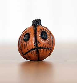 Orange Jack o'Lantern with Grim Face