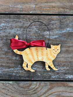 Cat Personalized Ornament - Orange Tabby