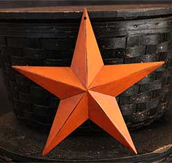 Antiqued Orange Wall Star - 8 inch