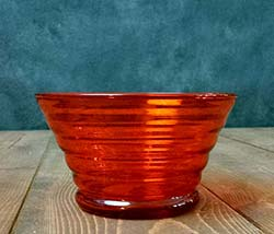 Beehive Glass Prep Bowl - Orange