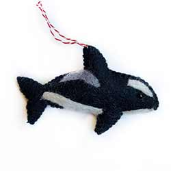 Orca Wool Ornament