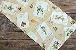 Gardener's Journal 36 inch Table Runner