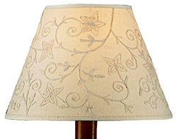 Crewel Lamp Shade - 12 inch