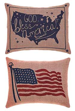 God Bless America Pillow Covers (Set of 2)