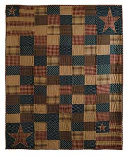 Patriotic Patch Quilted Throw
