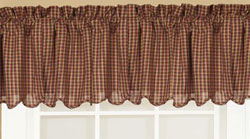 Patriotic Patch Valance - Scalloped