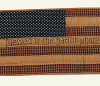 Victorian Heart Patriotic Patch Tablerunner - Blessed is the Nation
