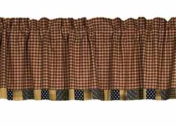 Patriotic Patch Valance - Bordered