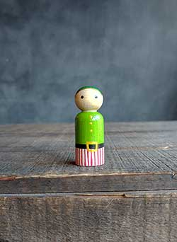Elf Mini Peg Doll (or Ornament)