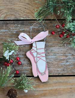Ballet Slippers Ornament (Personalized)