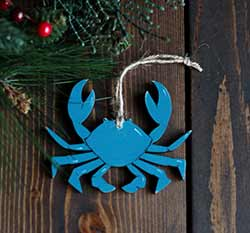 Blue Crab Ornament (Free Personalization!)