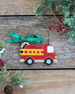 Fire Engine Ornament (Personalized)