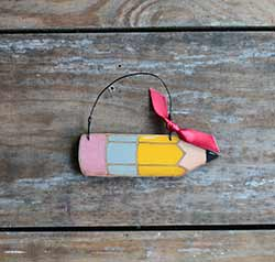 Pencil Ornament (Free personalization!)