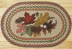 Earth Rugs Autumn Leaves Braided Jute Placemat