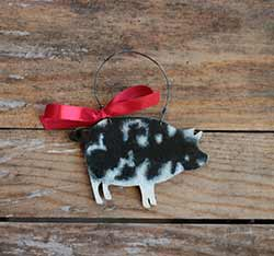 Pig Personalized Ornament - Spotted