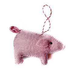 Pig Wool Ornament