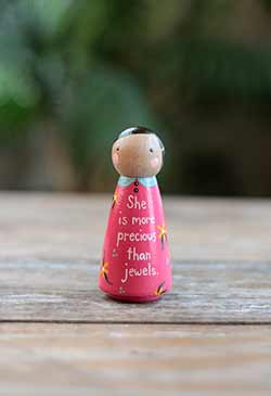 More Precious Than Jewels Scripture Doll - Pink (or Ornament)