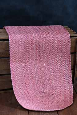 Coral Braided Table Runner, 48 inch