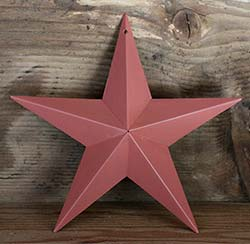 Coral Pink Wall Star - 8 inch