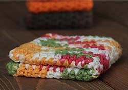 Strawberry Garden Crochet Dish Cloth
